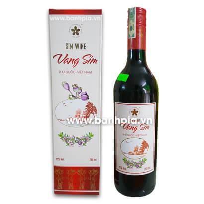 Rượu vang sim đỏ (vang chát)