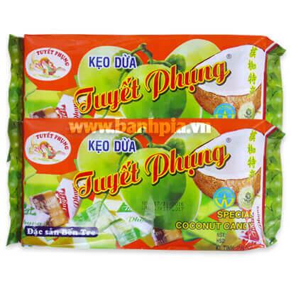 Kẹo dừa tuyết phụng đậu phộng