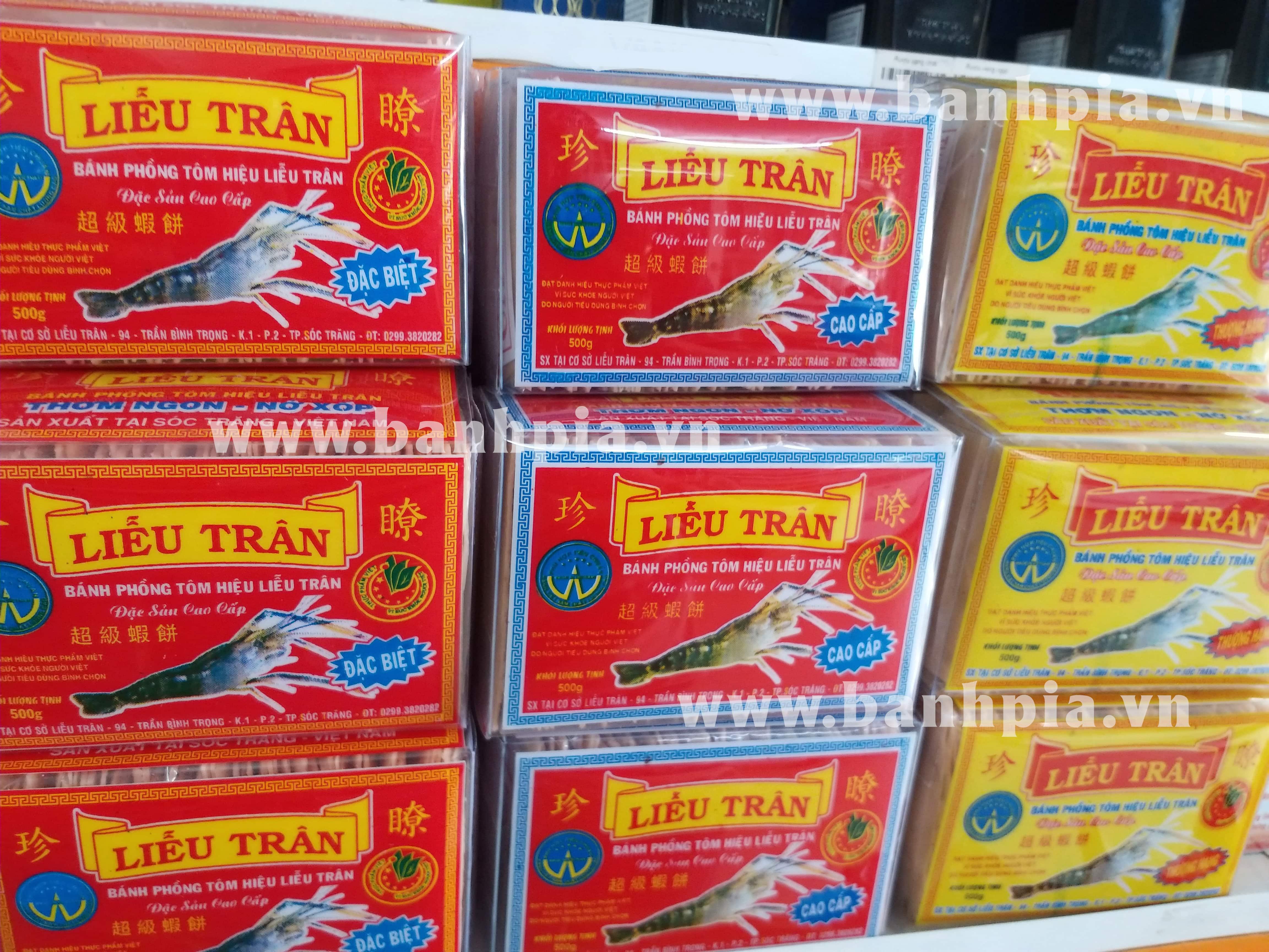 3 dòng sản phẩm bánh phồng tôm Liễu Trân