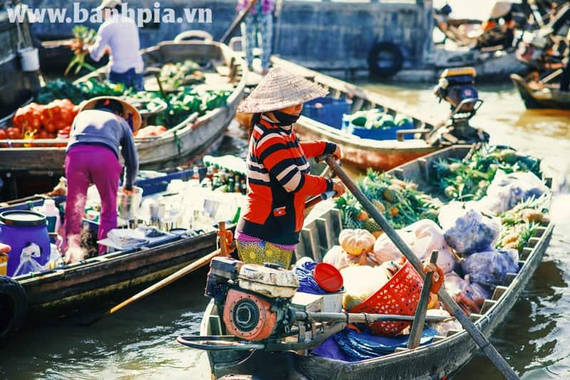 Chợ nổi Ngã Năm – khu chợ lâu đời nhất của Sóc Trăng