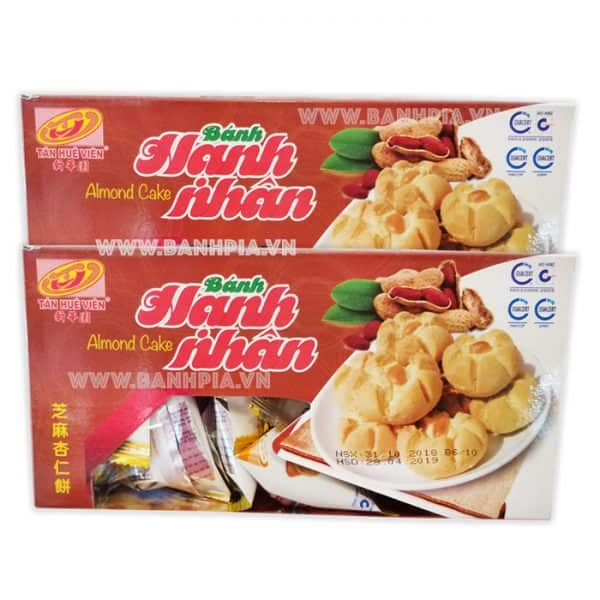 Bánh hạnh nhân hộp giấy bao bì riêng từng bánh