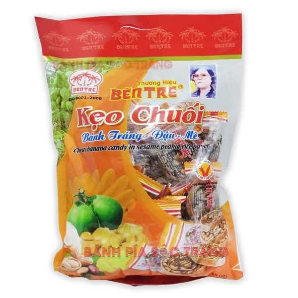 Kẹo chuối cuộn bánh tráng Bến Tre 400g