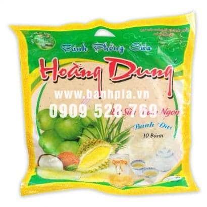 Bánh phồng sữa mè không sầu riêng Hoàng Dung