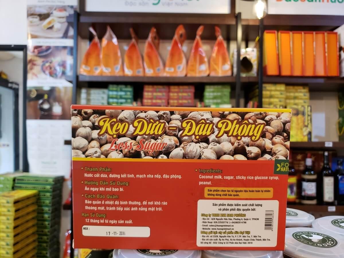 Kẹo dừa đậu phộng Bến Tre