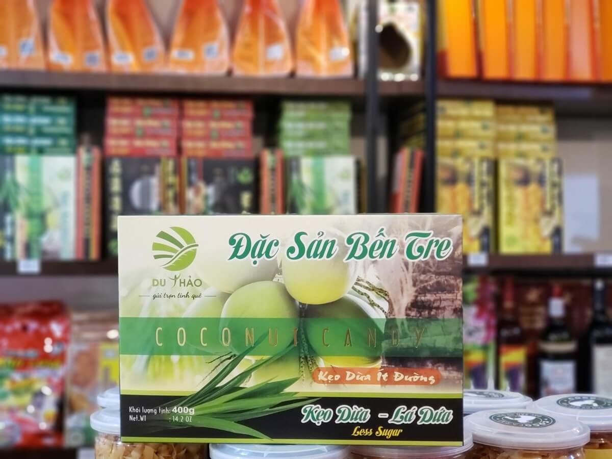 Kẹo dừa lá dứa Bến Tre cao cấp 400g