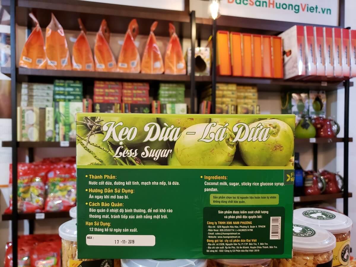 Kẹo dừa lá dứa Bến Tre