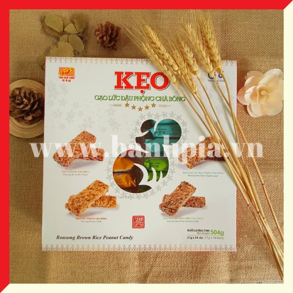 Hộp quà kẹo gạo lức đậu phộng chà bồng