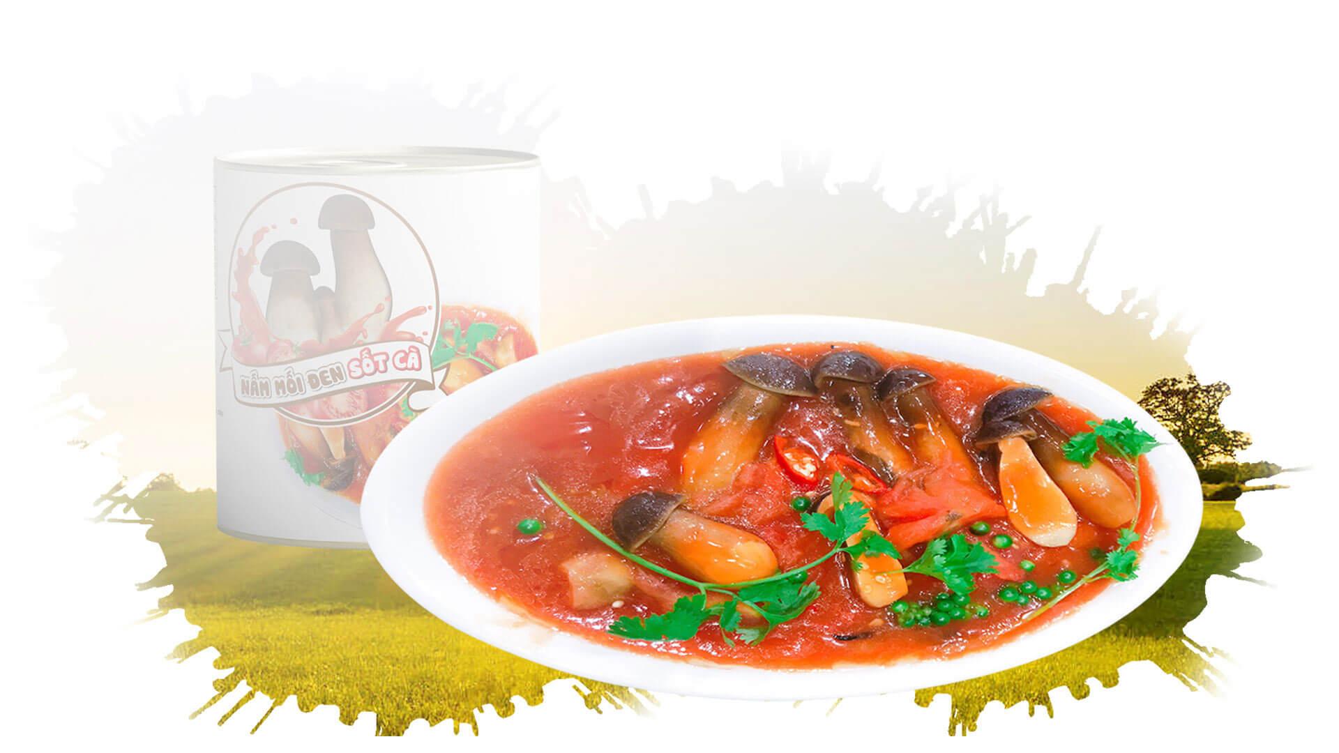 Nấm mối đen sốt cà ( ăn chay )