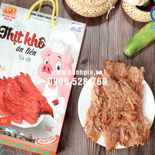 Khô heo sả ớt ăn liền Tân Huê Viên