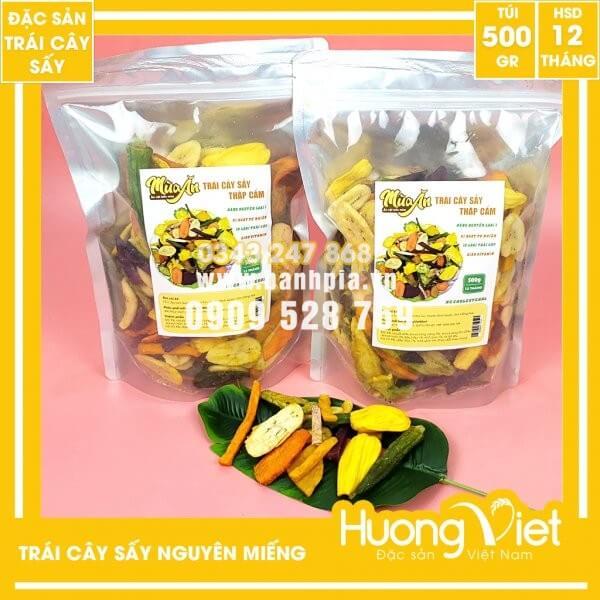 Trái cây sấy thập cẩm nguyên miếng túi zip 500g