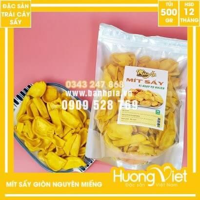 Mít sấy nguyên miếng xuất khẩu Cánh Dày Giòn Ngọt túi 500g