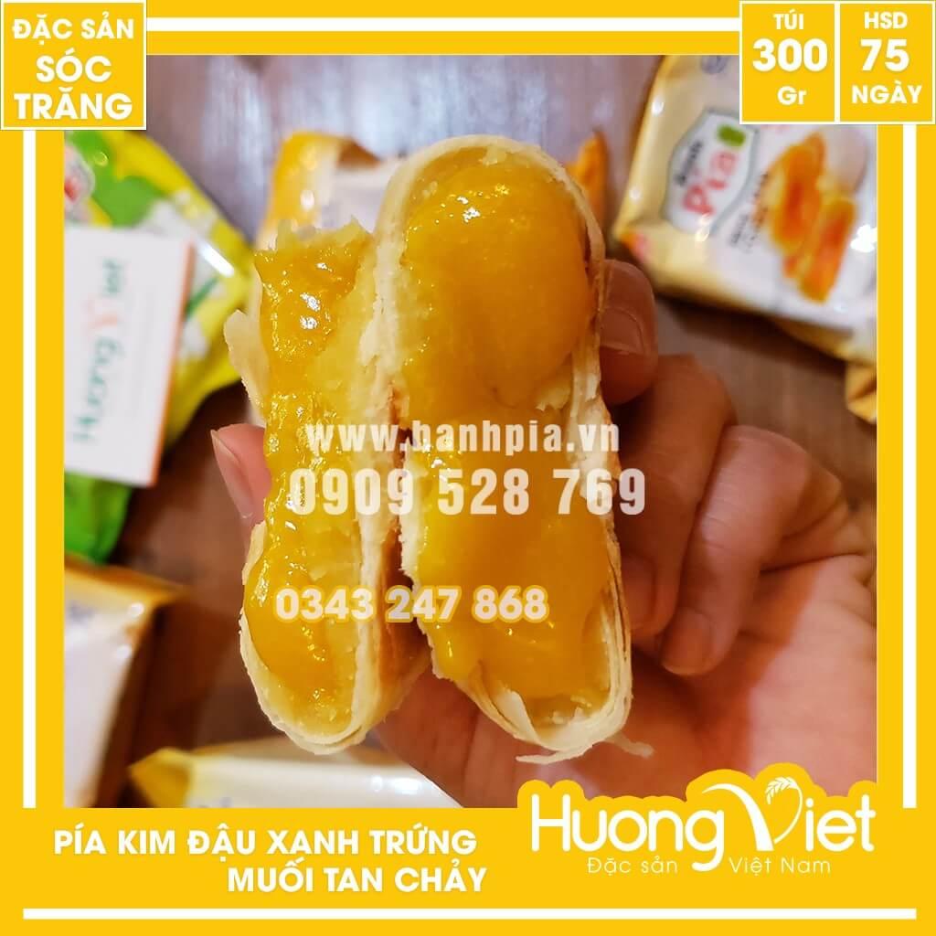 Bánh Pía Kim Sa đậu xanh trứng 300g túi 4 bánh