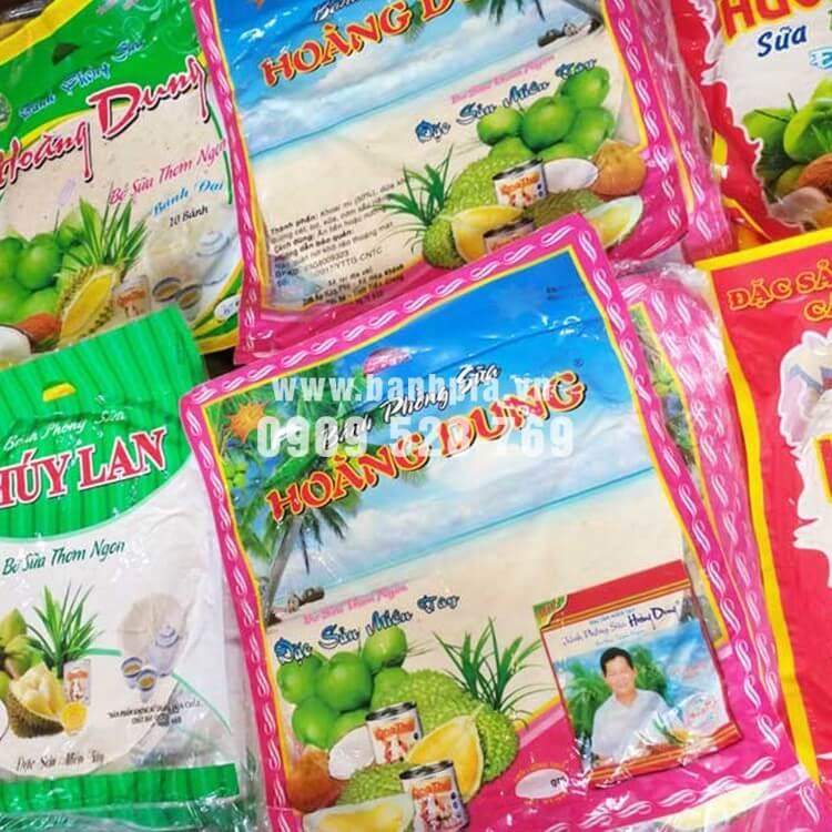 Bánh tráng sữa thương hiệu Hoàng Dung - Thúy Lan rất nổi bật trên thị trường